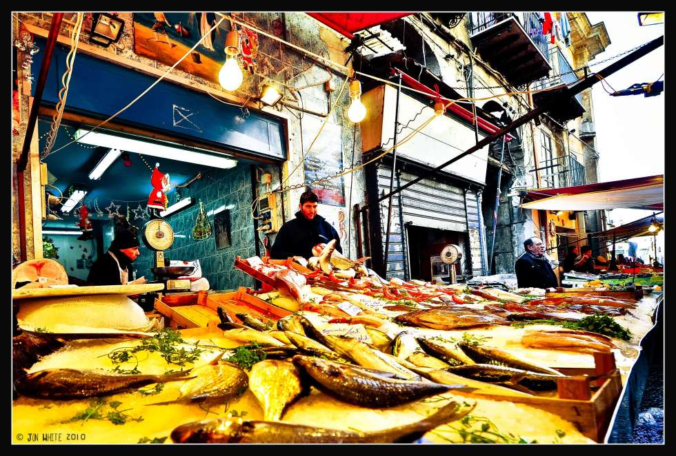 Shopping for fish at Palermo's Mercato il Capo