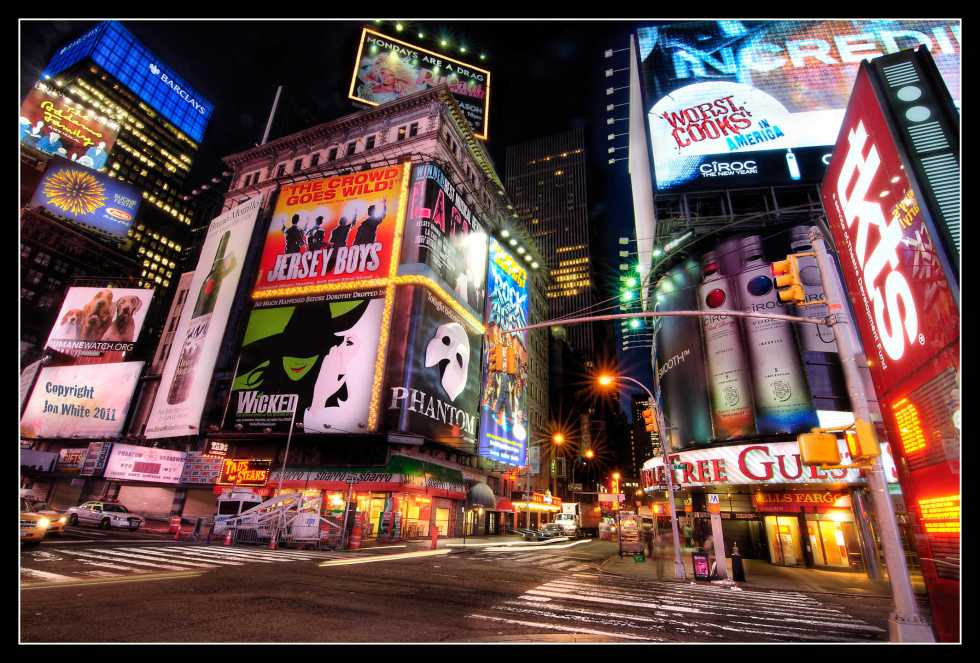 Time Square NYC at 5am