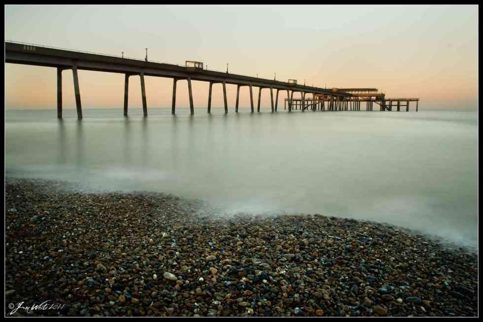 Deal Pier, Kent, Sunset, March 2011