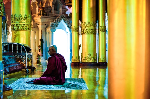 Surreal Colours of Shwedagon Pagoda - Rangon, Myanmar (Burma)